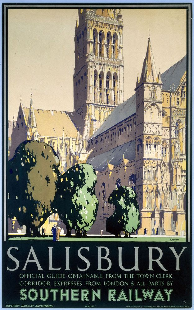 Salisbury, Southern Railway, 1932   15 Insanely Affordable Vintage Travel Prints