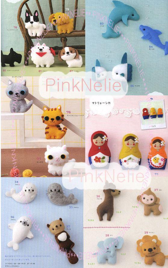 Handmade Cute FELT MASCOTS  n3396 Japanese Craft Book.via Etsy.
