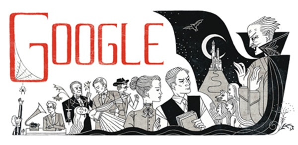 """Bram Stoker: un Doodle a 165 anni dalla nascita dell'autore di """"Dracula"""""""