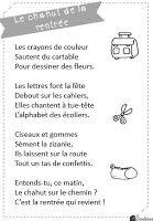 La classe de Sanléane: Poèmes - Rentrée et école