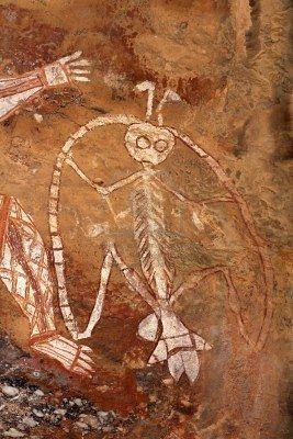 aboriginal rock paintings northern territory Australia