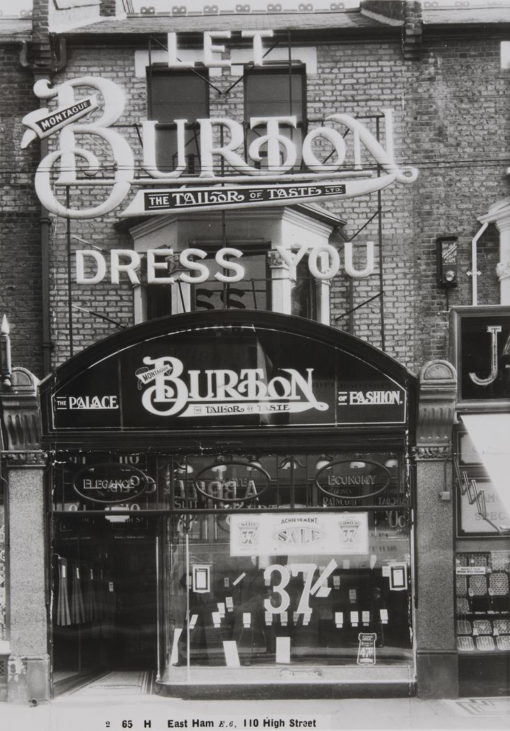Burton's façade in East Ham, c1930s - credit Burton Family Archive