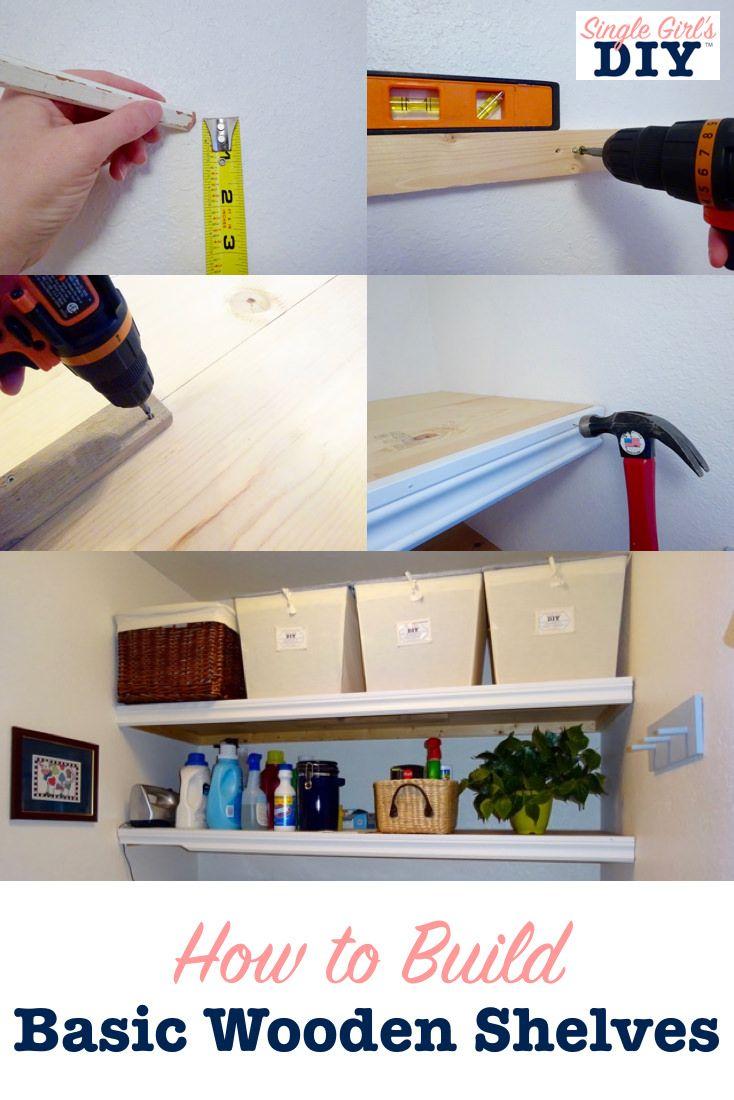 how to build basic wooden shelves real diy wooden shelves diy rh pinterest ch