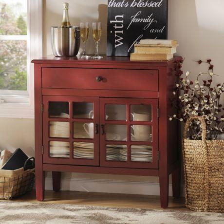 Kirklands red dresser