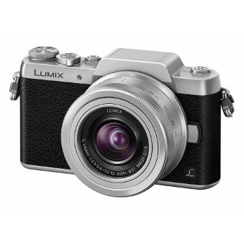 Appareil photo hybride avec objectif Panasonic Lumix DMC-GF7 + 12-32 mm Silver