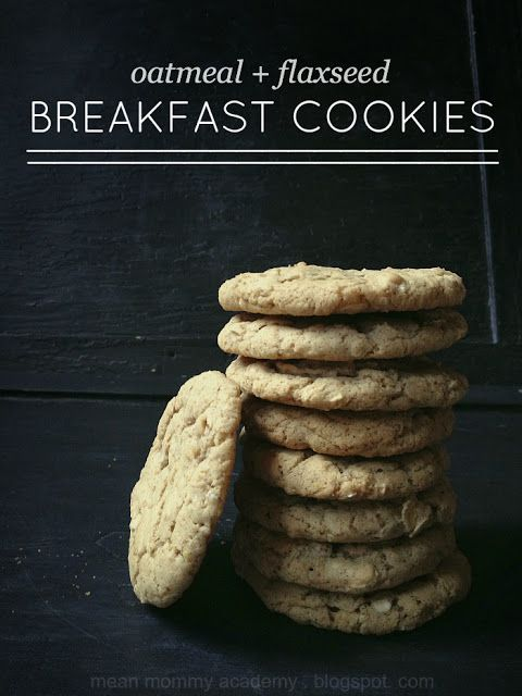 oatmeal + flaxseed breakfast cookies recipe // seriously so easy and delicious!