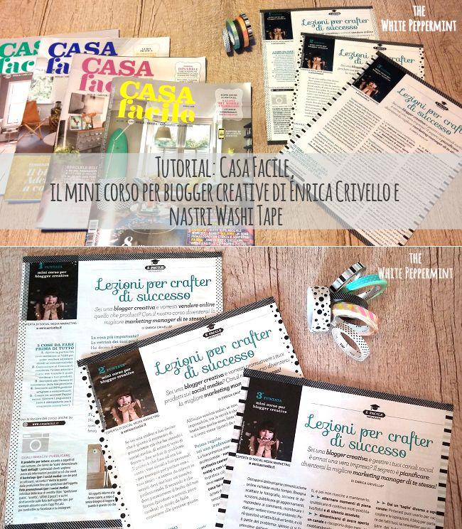 Tutorial: Casa Facile, il mini corso per blogger creative di Enrica Crivello e Washi Tape