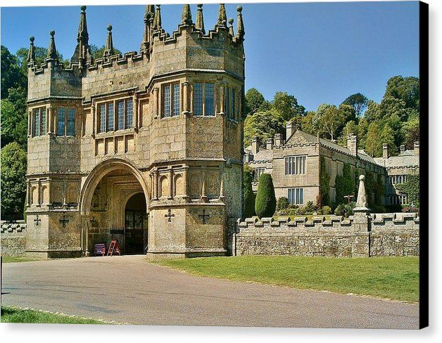 LANHYDROCK GATEHOUSE Canvas Print featuring the photograph Lanhydrock Gatehouse by & copyright Richard Brookes. DESCRIPTION: Magnificent Lanhydrock, near Bodmin in Cornwall, UK is a 19th-century late Victorian stately home. Following a devastating fire in 1881 the original Jacobean house was refurbished in the latest fashion and with the latest mod cons by the Agar-Robartes family. Open to the public it is under the stewardship of the National Trust.