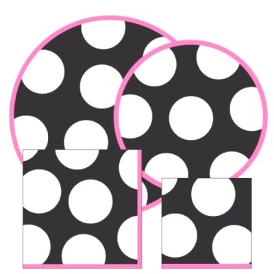 1000 images about marissa 39 s 13th birthday on pinterest for Black and white polka dot decorations