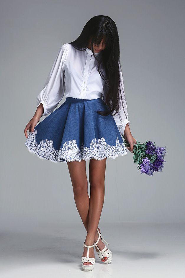 Джинсовые юбки (107 фото): с чем носить, длинные и короткие, модные фасоны, карандаш, с джинсовой рубашкой