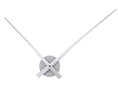 Nástěnné hodiny Little Big Time alu stříbrné 76 cm, Karlsson