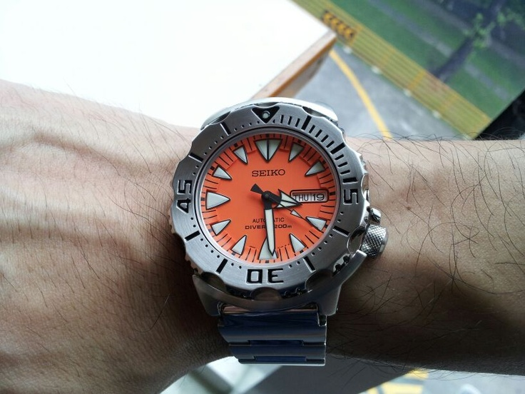 The new Seiko Monster automatic dive
