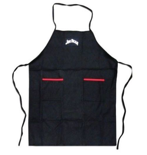 Jim Beam Classic Heavy Kitchen or Outdoor Grilling BBQ Apron Black with Pockets #JimBeam #Contemporary