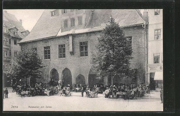 Alte Ansichtskarte: AK Jena, Gasthof Ratskeller mit Zeise