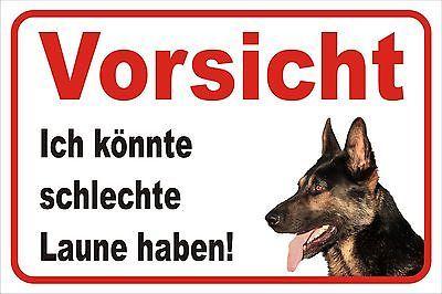 Schild Vorsicht deutscher Schäferhund 15x20 bis 40x60cm Hund Warnschild Tür