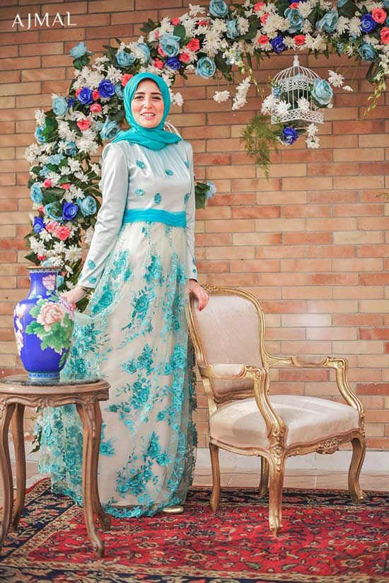 hijab-soiree-dress- Beautiful hijab evening dresses