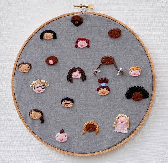 Embroidery by Hey Paul's buddy, Dandelyne!