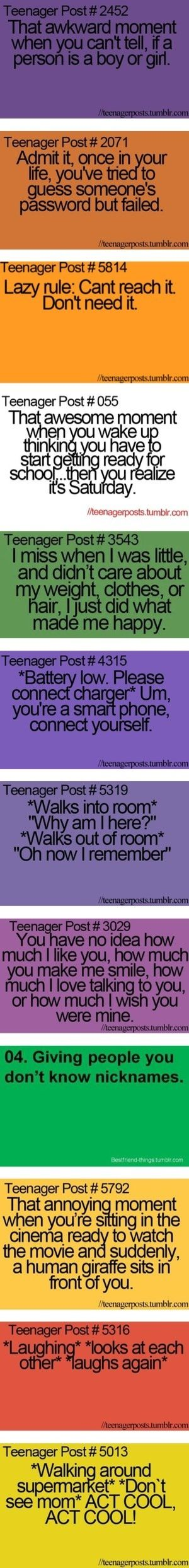 Like this is so trueXD ok now Im scared...whos been watching me!?!?! O/ I Demand an answer and a Poptart!