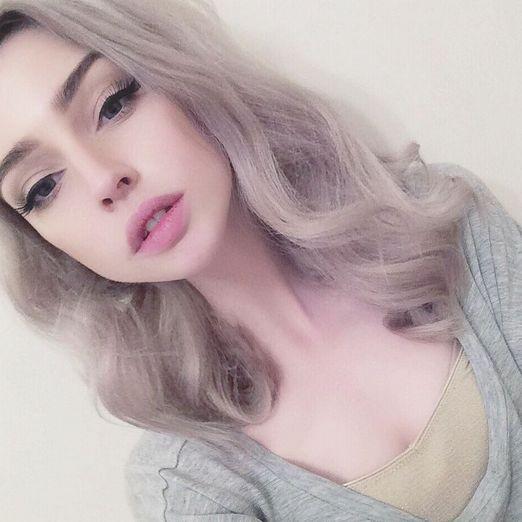 Silvery ash hair