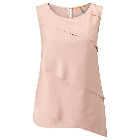 Buy BOSS Orange Kasimmy Pleated Top, Bright Pink Online at johnlewis.com