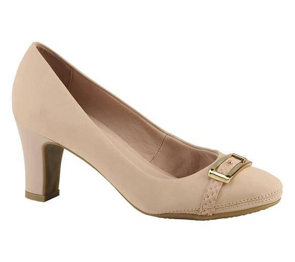 Sapato scarpin com salto médio e fivela de metal | Sapatos | Bottero Calçados