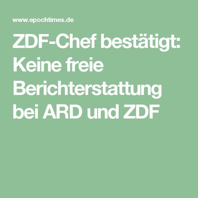 ZDF-Chef bestätigt: Keine freie Berichterstattung bei ARD und ZDF