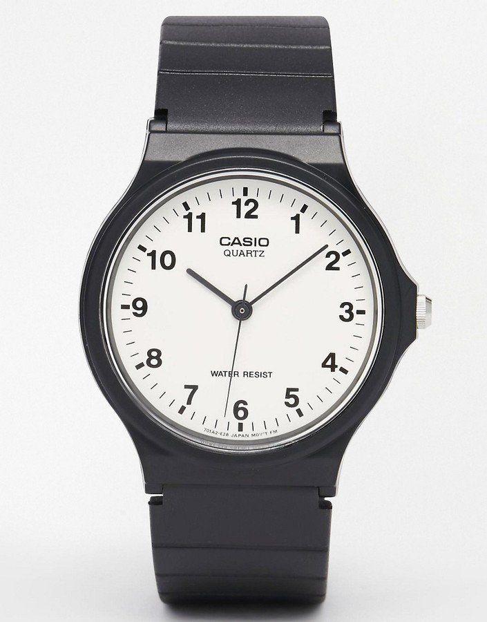 Pin for Later: 50 schöne (& teils auch ganz praktische) Geschenkideen zum Vatertag  Casio MQ-24-7BLL - Analoguhr mit Kunstharz-Armband in Schwarz (22 €)
