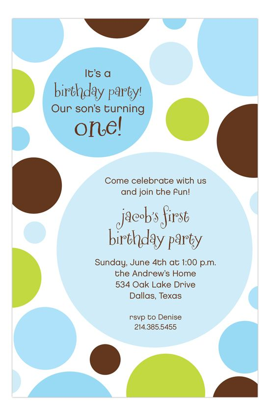 20 best 1st Birthday Invitations images – Polka Dot First Birthday Invitations