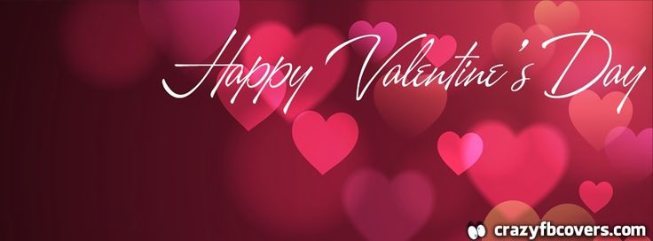 Abstract Hearts Happy Valentines Day Facebook Cover Facebook Timeline Cover