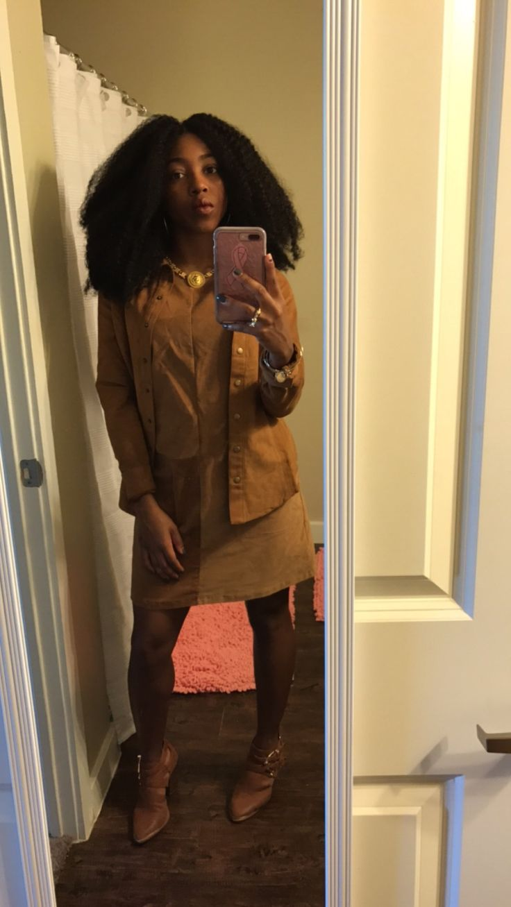 All brown suede outfit