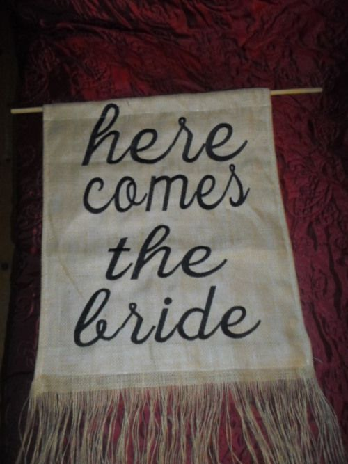 Buy Hessian Banner - Here comes the Bridefor R250.00