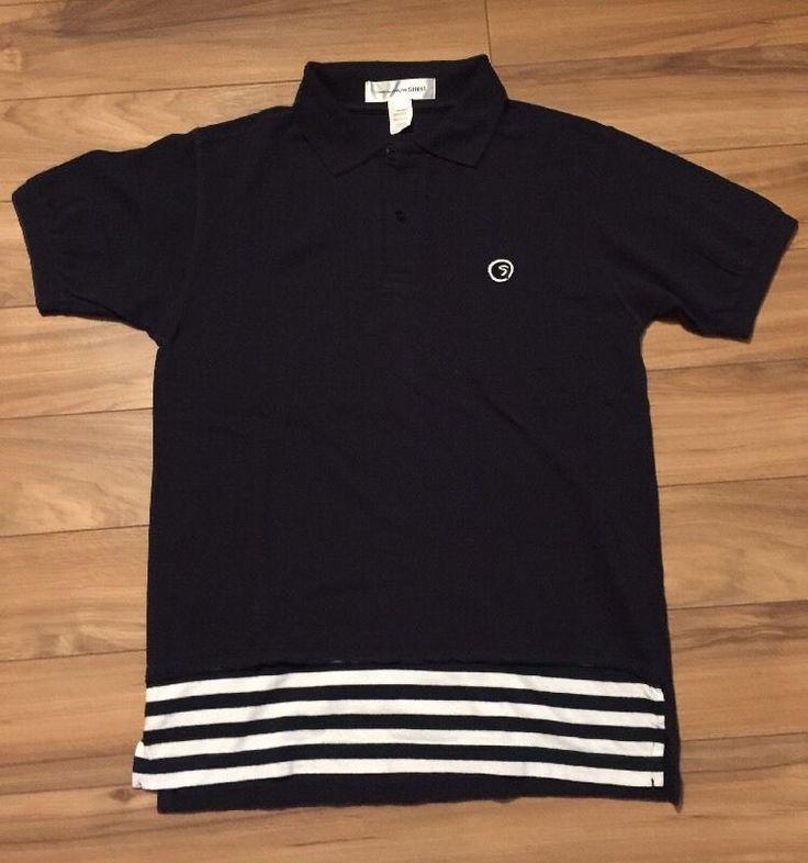 Comme Des Garçon Shirt Small Navy | eBay