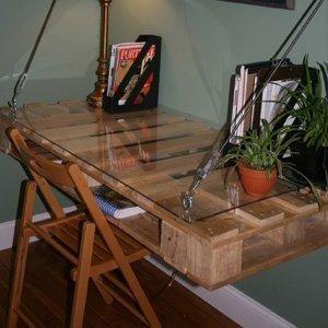 Como hacer un escritorio flotante con palets: Pallets Desks, Crafts Rooms, Computers Desks, Pallet Desk, Pallets Furniture, Desks Ideas, Wood Pallets, Diy Projects, Palletdesk