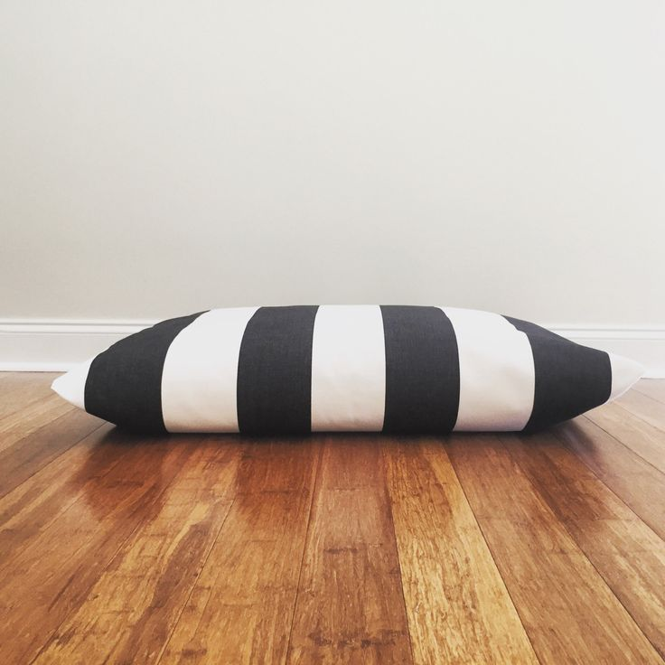 Black Stripes dog bed cover, Nautical Dog bed cover, stripes dog bed cover, Black and White dog bed cover, modern Dog beds cover by PlushPup on Etsy
