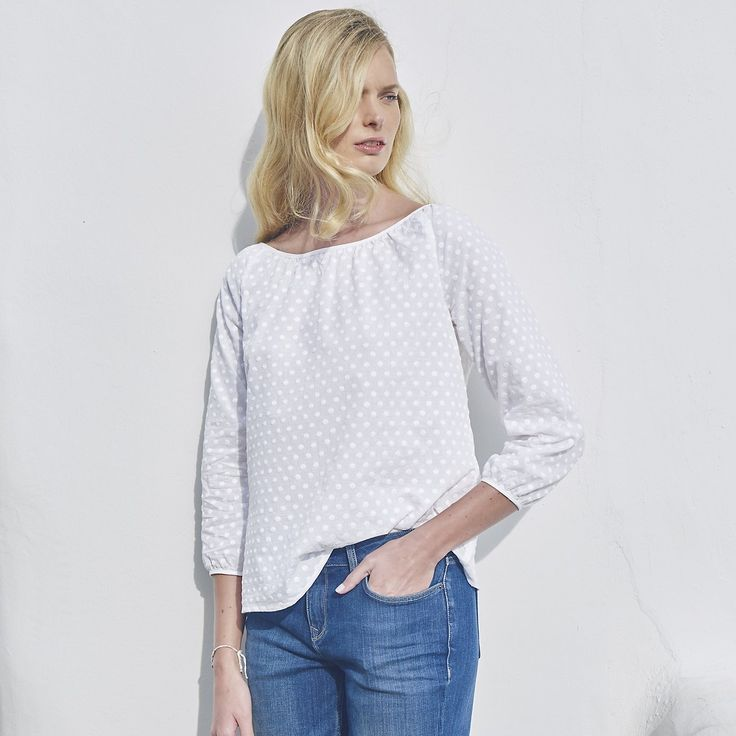 Embroidered Dot Blouse from The White Company