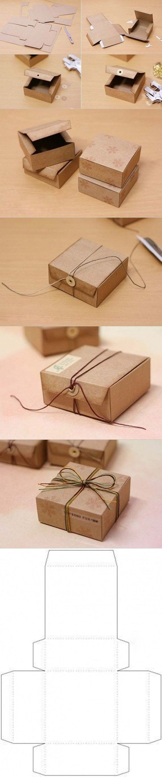 Gift box from cardboard tutorial