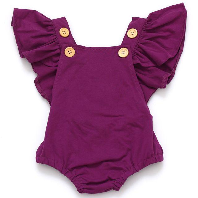 Meninas do bebê Dot Romper do bebê Recém-nascido Infantil Meninas Roupas de Verão Primavera Algodão Plissado de Manga Comprida Romper Criança Macacão 0-dois Anos C32