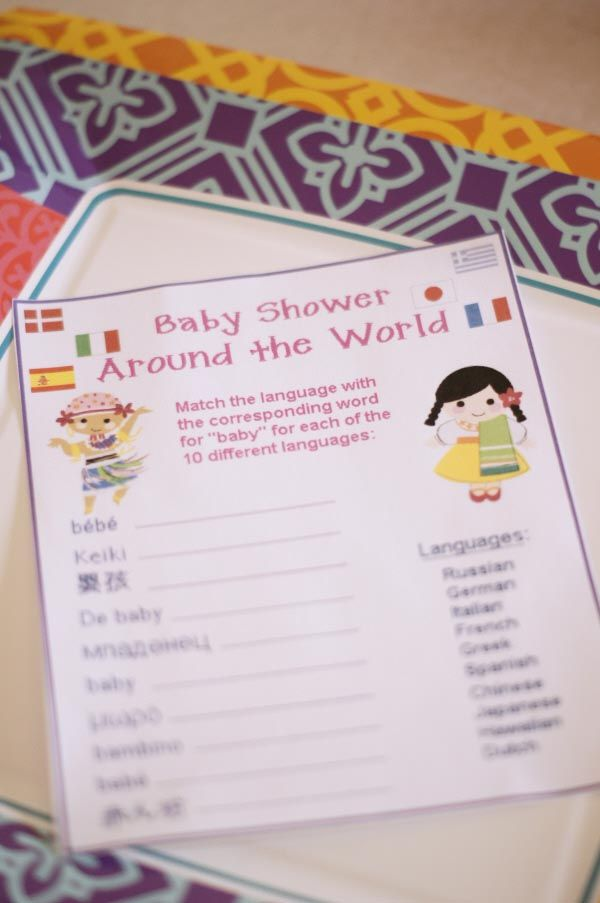 Its a small world Disney baby shower game - change word to hello