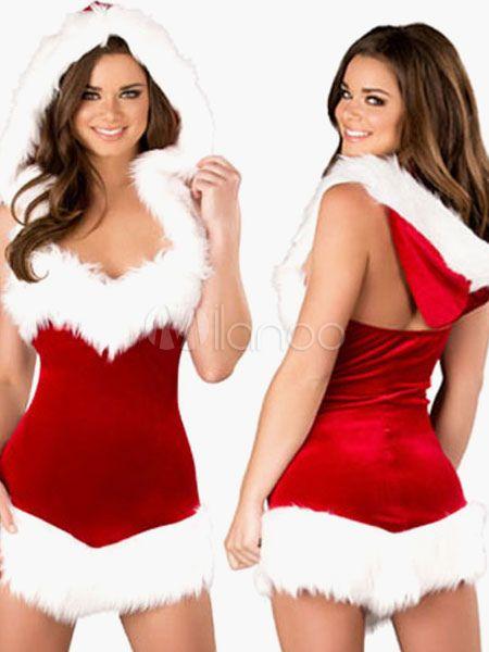 Santa Clause Costume for Women - Milanoo.com