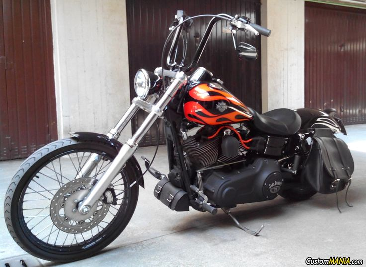 Harley Davidson Dyna FXDWG Wide Glide customized. See more on CustomMANIA.com