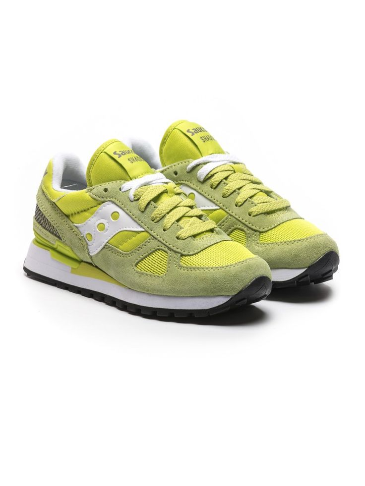 Saucony Limited Edition Donna sneakers in suede verde lime e bianco   ZO et LO