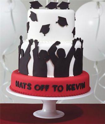 Such a cute graduation cake. Hats off Graduation cake