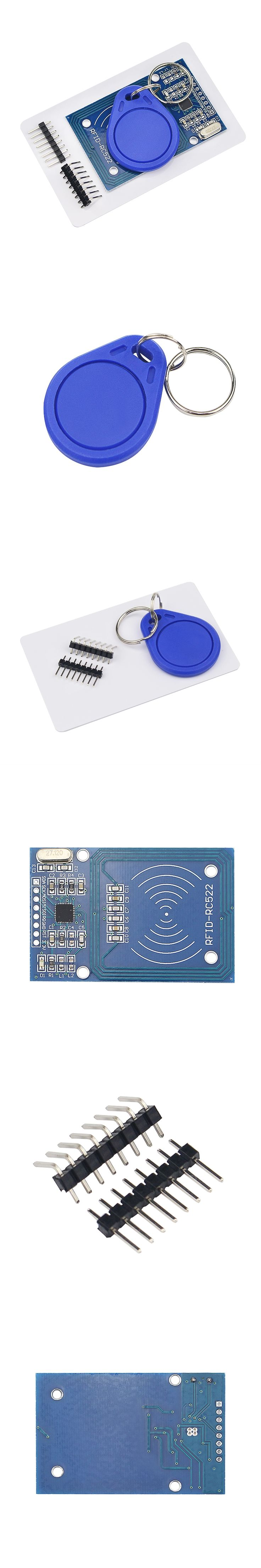 New RC522 MFRC-522 RFID RF IC Card Sensor Module to Send S50 Fudan Card Keychain for Arduino