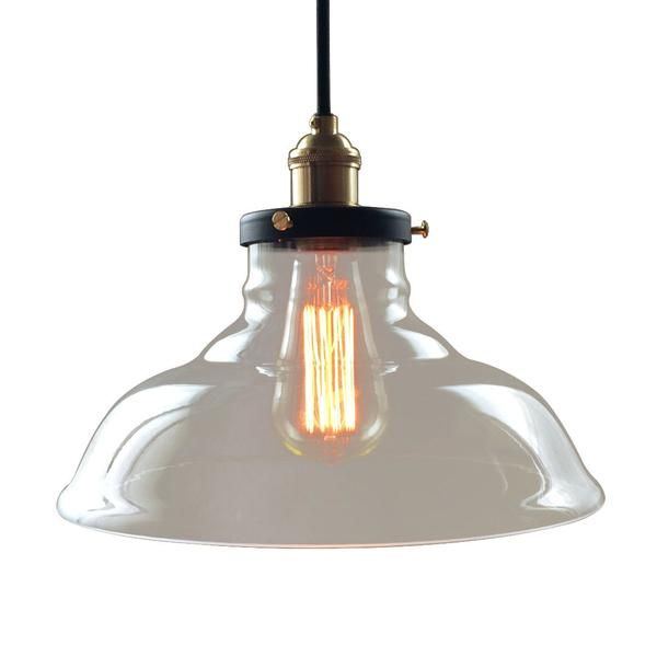 Glass Pendant Hanging Lamp Vintage Copper Bell Lamp Shade BELLA West men lights pendant light named BELLA evoking combination of Modern and Industrial lighting.
