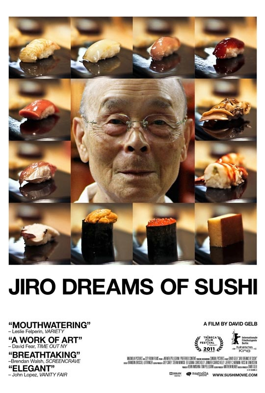 Jiro Dreams of Sushi. 85 year-old Jiro Ono is considered by many to be the world's greatest sushi chef. He is the proprietor of Sukiyabashi Jiro, a 10-seat, sushi-only restaurant inauspiciously located in a Tokyo subway station. Despite its humble appearances, it is the first restaurant of its kind to be awarded a prestigious 3 star Michelin review.