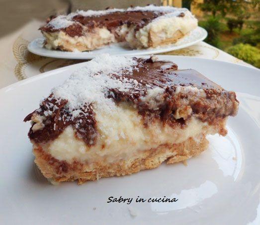Torta fredda al cocco e nutella - Ricetta golosa