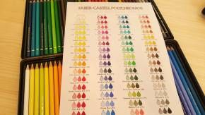I got my Faber-Castell Polychromos 60 Pencil set two weeks ago.The grand plan was to do an unboxing video but in my excitement, in less than one minute, I had ripped off the packaging and the plastic that held this treasure trove of colors.Oops! Oh well, next time…My husband commented that I looked like a …