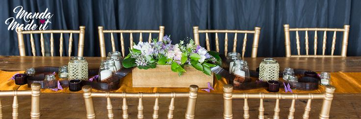 DIY Wedding table crafts and styling