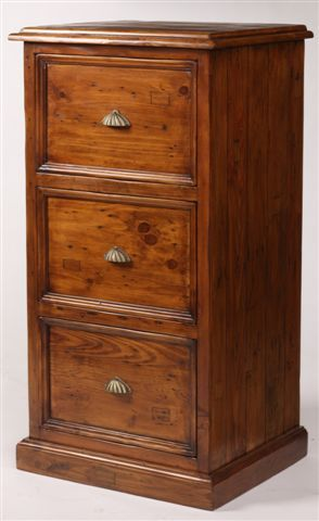 Need a filing cabinet? Try this 3 drawer #reclaimed pine filing cabinet from Antique Market #Vancouver! Find more great furniture online! www.antiquesdirect.ca #WeShipAllOverNorthAmerica