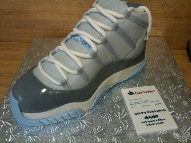 so cool - Air Jordan XI (Cool Grey) birthday cake